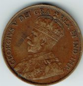 Canada, George V, One Cent 1912, AVF, WB5996